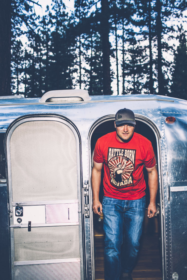 Man Coming Out of Airstream