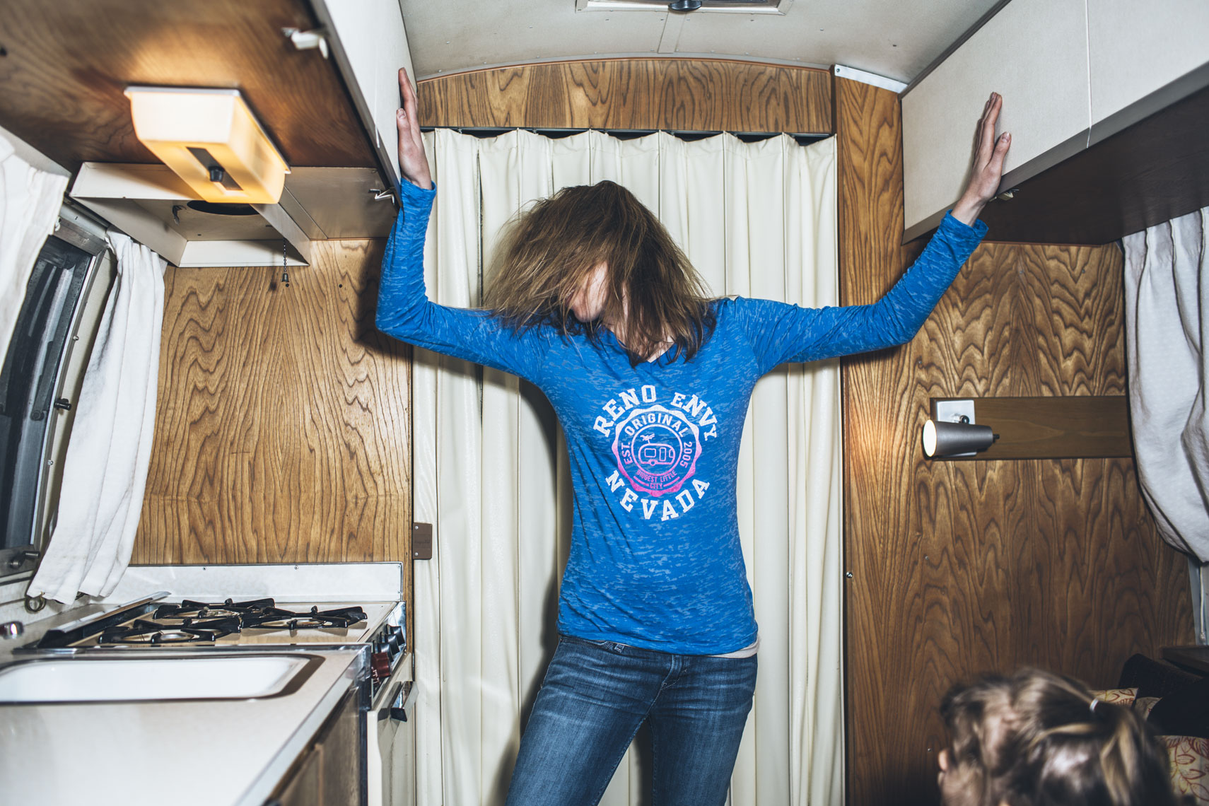 Woman in Camper
