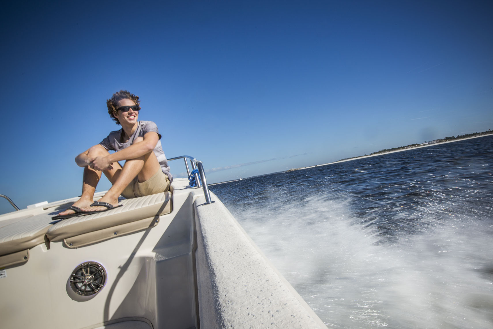 Young man in Boat